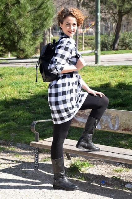 Outfit-Vestido-Camisero-cuadros-3