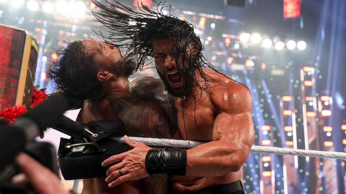 Roman Reigns and Jey Uso at WWE Clash of Champions