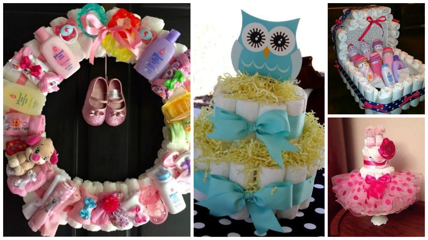 9 Ideas para decorar y regalar paales en un baby shower ...
