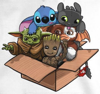 Baby Yoda Gizmo Groot Stitch And Toothless T Shirt Hoodie Sweatshirt . GET IT HERE