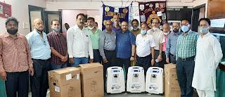 #JaunpurLive : लायंस क्लब ने  कोविड मरीजों के लिये तीन आक्सीजन कंसंट्रेटर का किया शुभारंभ