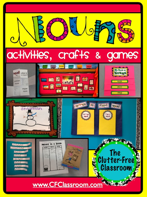 How I Made Nouns Fun Clutter Free Classroom