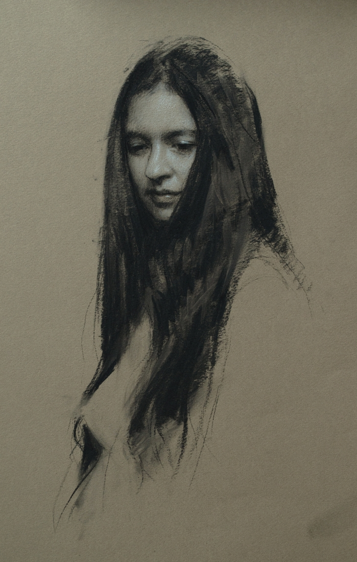 06-Daydream-Casey-Childs-Charcoal-Portrait-Drawings-that-Capture-our-Essence-www-designstack-co
