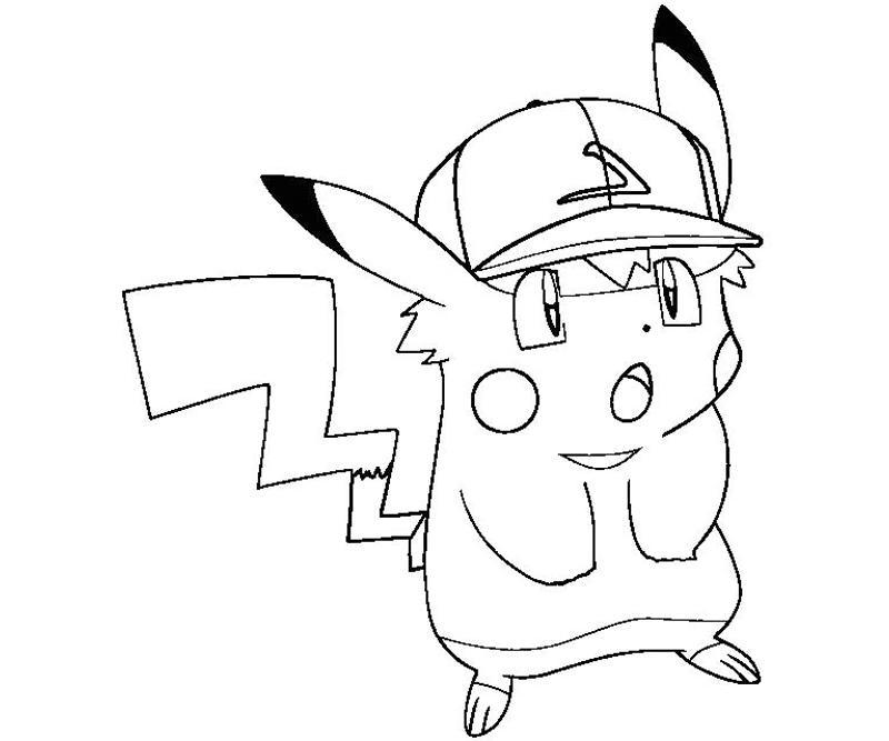 Pikachu Coloring Page Of Pokemon