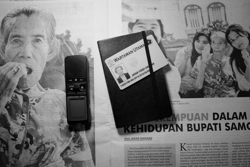 Jarar F. Siahaan wartawan independen dan foto koran Batak Raya di Samosir
