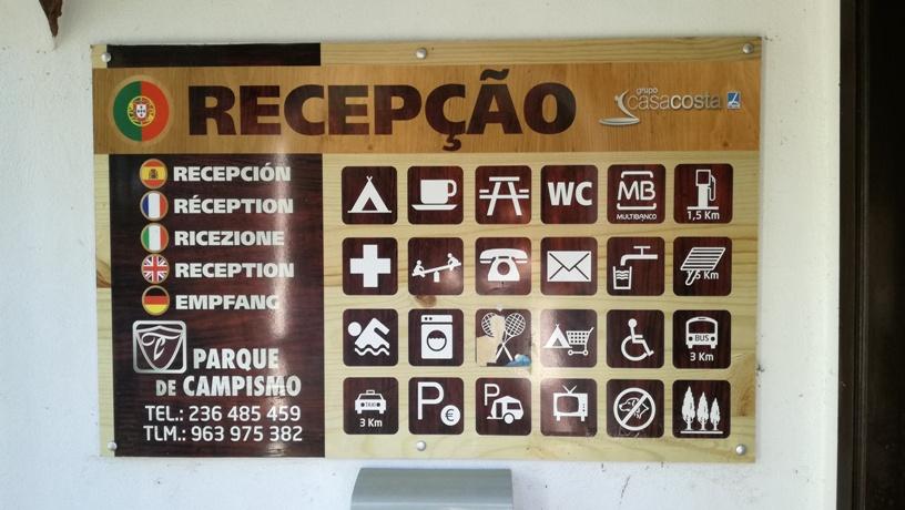 recepção do Parque de campismo de Pedrogão Grande