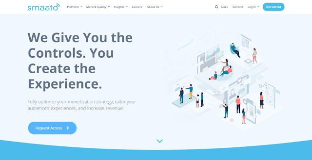 Smaato Website Homepage Screnshot