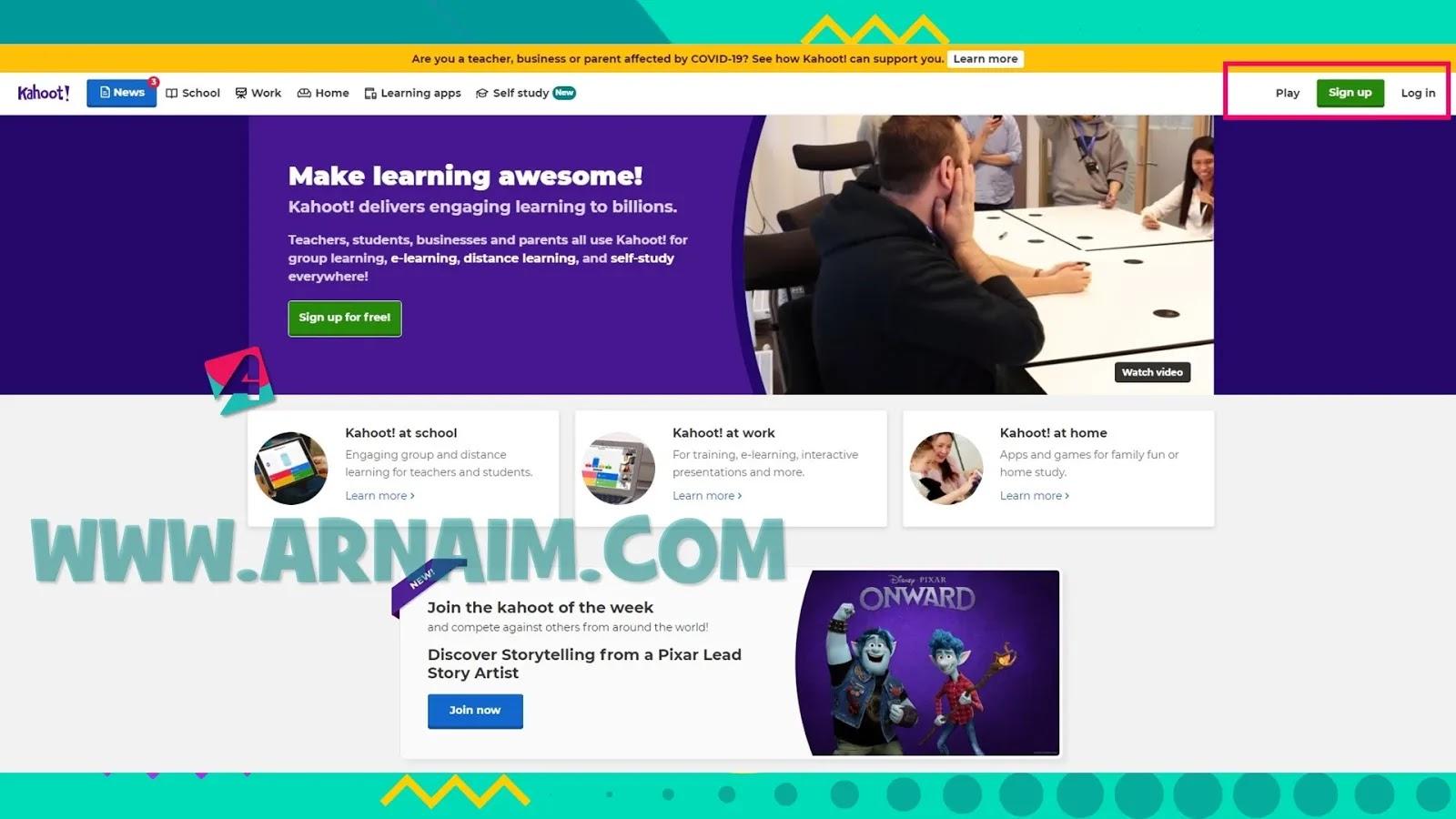 Arnaim.com - Dapatkan Akun Kahoot Premium Secara Gratis
