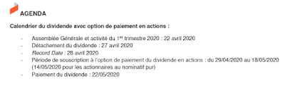 Covivio detachement dividende 2020