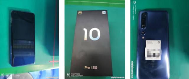 تم تسريب بعد صور من الإنترنيت لهاتف Xiaomi Mi 10 Pro 5G سيكون تصميم مشابه لهاتف Mi Mix Alpha حيث  تُظهر الصور شاشة مثقوبة بالإضافة إلى إعداد كاميرا خلفية رباعية.    وقد تم تعميم الصورة المزعومة  Mi 10 Pro على Weibo. تشير الصورة إلى أن الهاتف مع Qualcomm Snapdragon 865 SoC سيظهر لأول مرة في 11 فبراير. وهذا يؤكد صحة شائعة سابقة تطالب بإطلاق سلسلة Mi 10 Pro  في أوائل فبراير.
