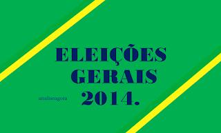 A imagem nas cores do Brasil diz: eleições gerais de 2014