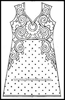 Salwar kameez design drawing for hand emroidery and machine emroidery