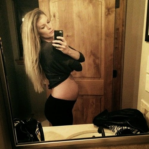 Such a beautiful belly! Marisa Miller Mini Model growing