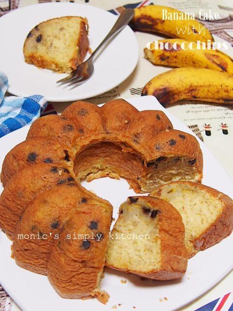 resep cake pisang chocochips