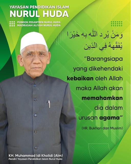 Pendiri MA Nurul Huda KH Muhammad Idi Kholidi