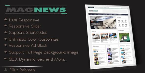 Professional Responsive Blogger Templates   News & magazine