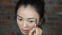 Sparkling Green New Year's Eve make up -Moving on, I am going to use my current favorite Good Proof Brow Pencil by Benefit in no.3. Firstly, draw the outer shape of your brows and then slowly fill them up with small little strokes.