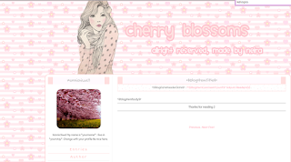 My 12nd Skins : Cherry Blossoms