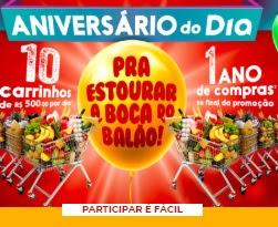 Cadastrar Aniversário 2020 DIA Supermercado Vales-Compras 500 Reais
