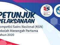 Petunjuk Pelaksanaan Kompetisi  Sains Nasional (KSN) SMP 2020