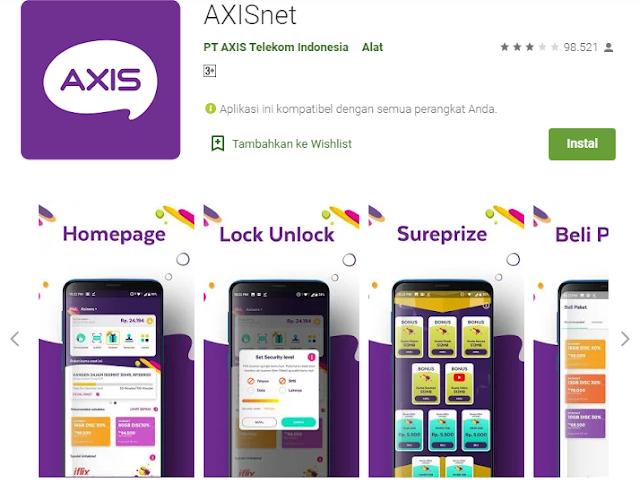 Cara Cek Kuota Axis Melalui Aplikasi AXISnet