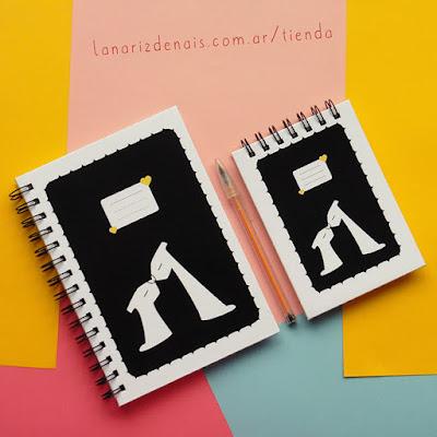 tienda de objetos ilustrados la nariz de anais cuadernos