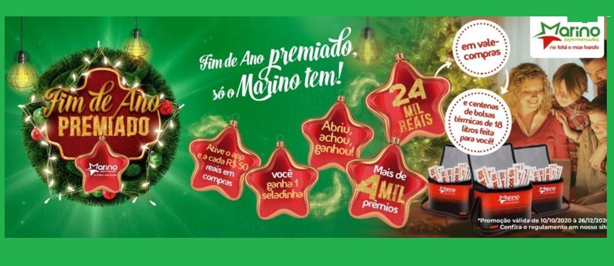 Promoção Fim de Ano Premiado Marino Supermercado 2020 Vales-Compras Seladinha Abriu Achou Ganhou