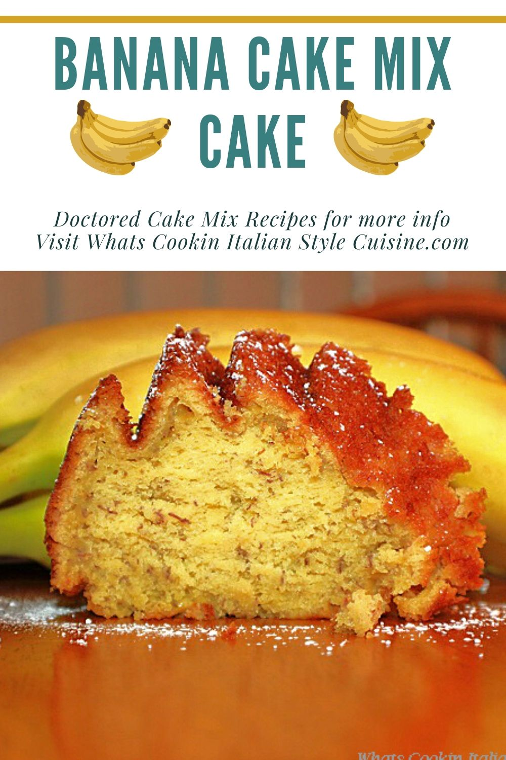 this is a pin for later on how to make a banana cake with a cake mix
