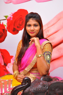 Lucky Sree in dasling Pink Saree and Orange Choli DSC 0342 1600x1063.JPG