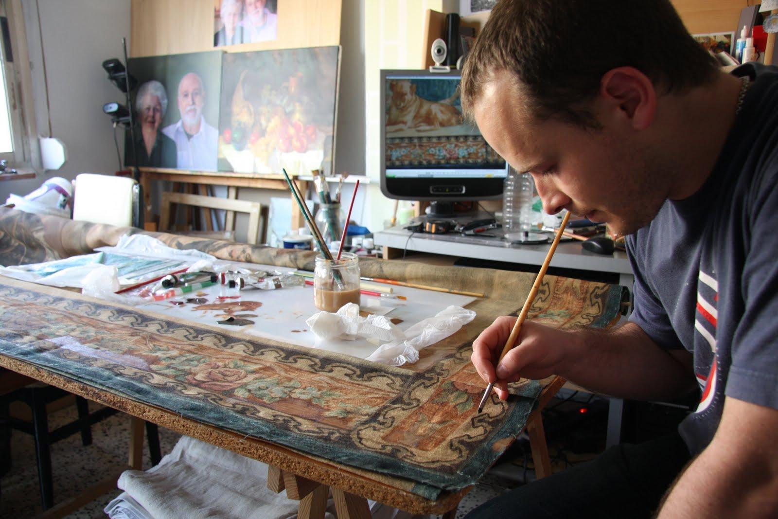 Conservaci n y restauraci n de obras de arte la restauraci n de alfombras antiguas del sig xviii - Restauracion de alfombras ...