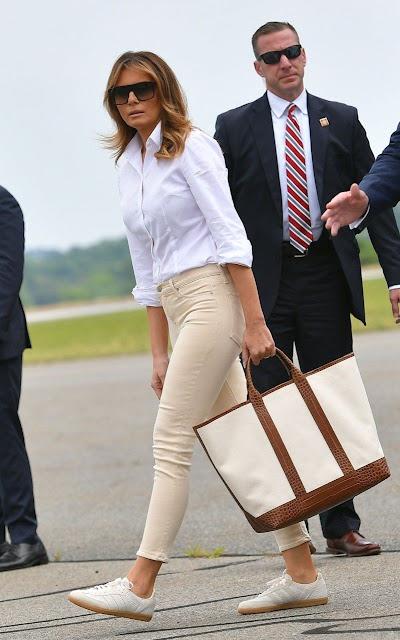 Fashion Style: Melania Trump in a Hollywood Style Latest Fashion Dress