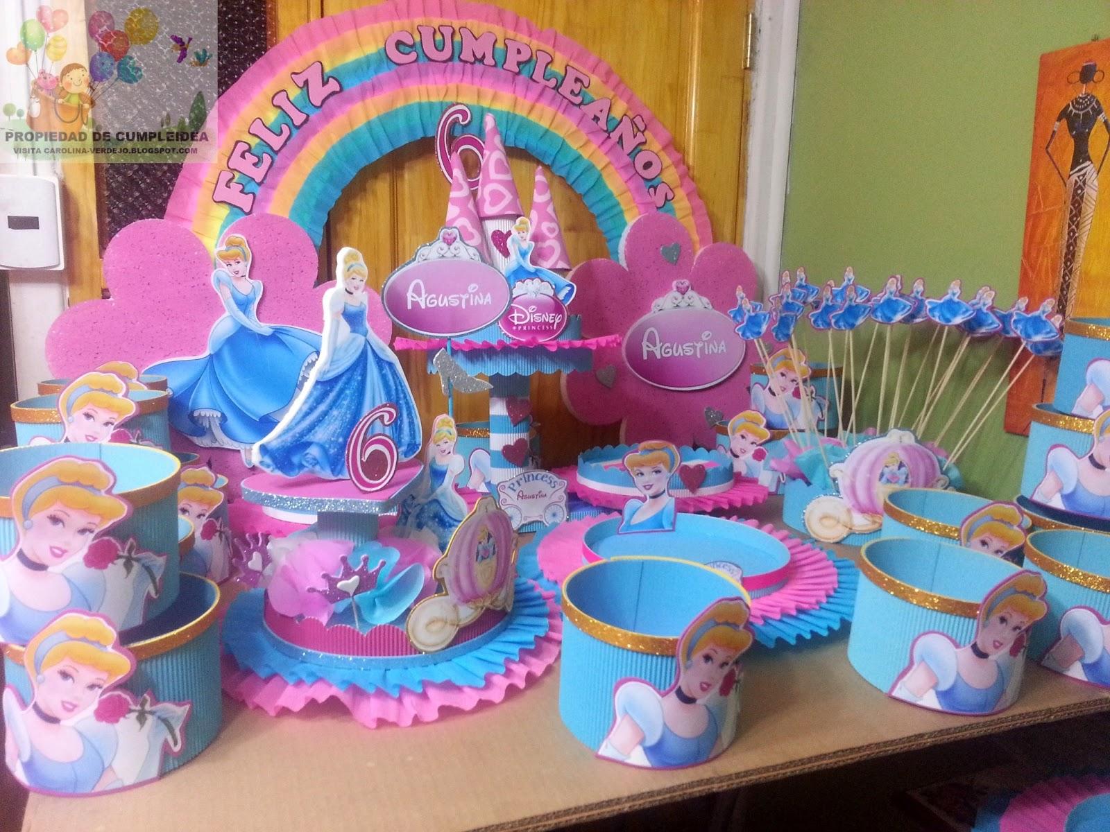 Decoraciones infantiles princesa cenicienta - Fiestas infantiles princesas disney ...