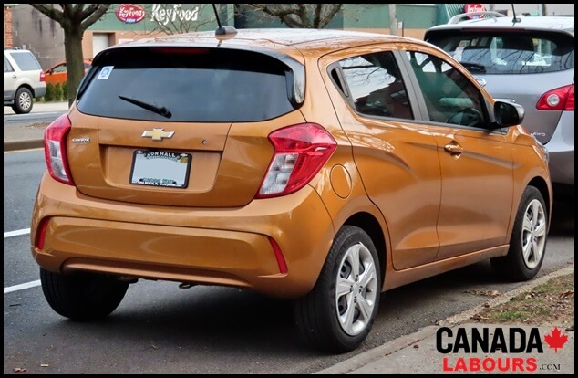 Chevrolet Spark, Cheapest Cars in Canada