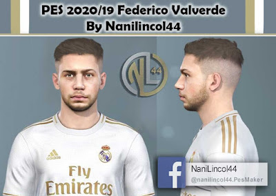 PES 2020 Faces Federico Valverde by Nanilincol44
