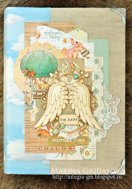 album for a newborn | I-Kropka DT @akonitt #album #by_marina_gridasova #i-kropka #chipboard #prima #primamarketing #heavensent #mewbornalbum #newborn