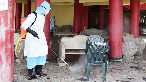 彰化宮廟加強消毒防疫不容破口 洪榮章籲暫延宗教活動