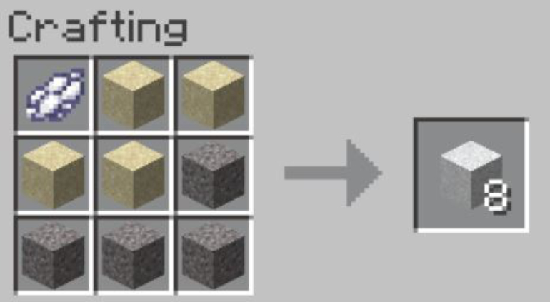 There are three materials you need to make white cement: gravel, sand, and dye.