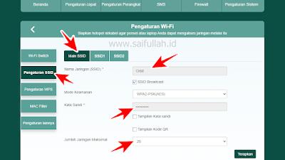 Cara Membuat 3 Nama Hotspot Baru di Router Advan CPE Start