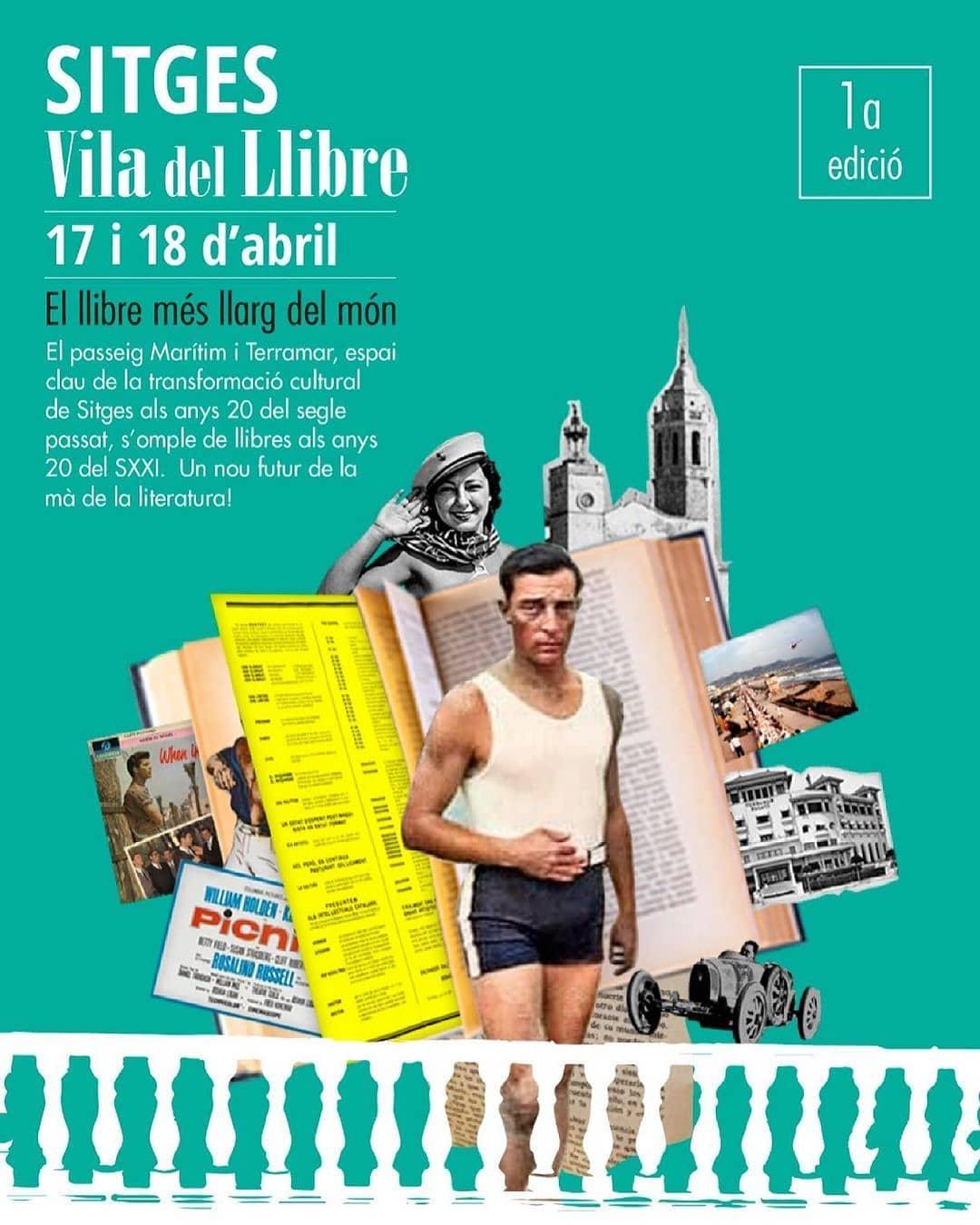 cartell oficial de Sitges Vila del llibre