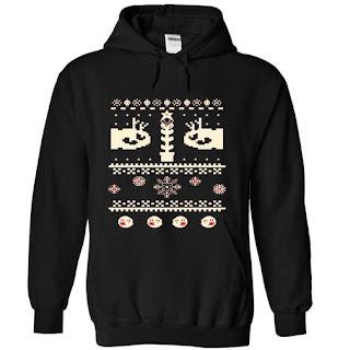 ugly christmas style hoodie
