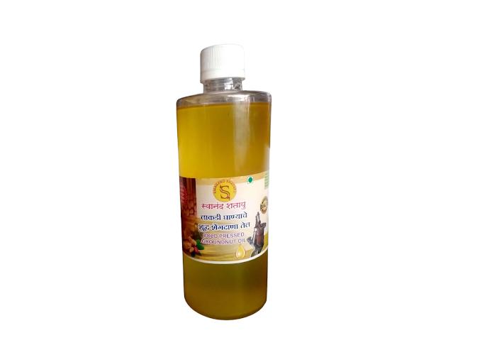 शेंगदाणा तेल Cold Pressed Groundnut Oil (500 ml )