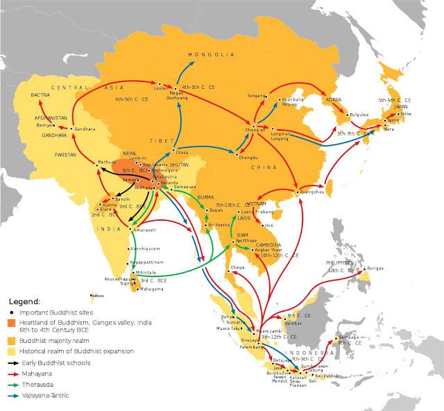 jalur masuknya hindu budha di indonesia