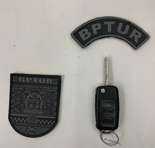 Policiais do BPTur prendem dois homens e recuperam veículo tomado de assalto no Olho d'Água