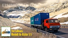 Road to Asia 1.1 Map Mod Afghanistan Turkmenistan North & South Korea  ETS2 1.41