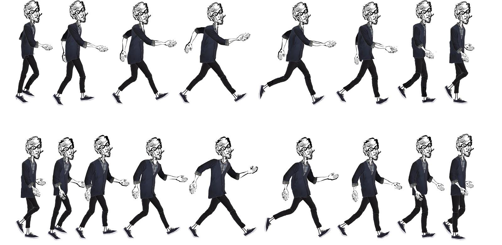 animando em casa: ciclo de caminhada animação desenho