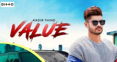 VALUE Lyrics - Kadir Thind Ft. Raviraj