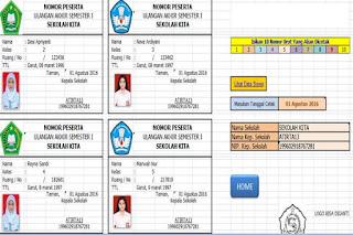 Aplikasi Cetak Kartu Peserta Ujian Sekolah