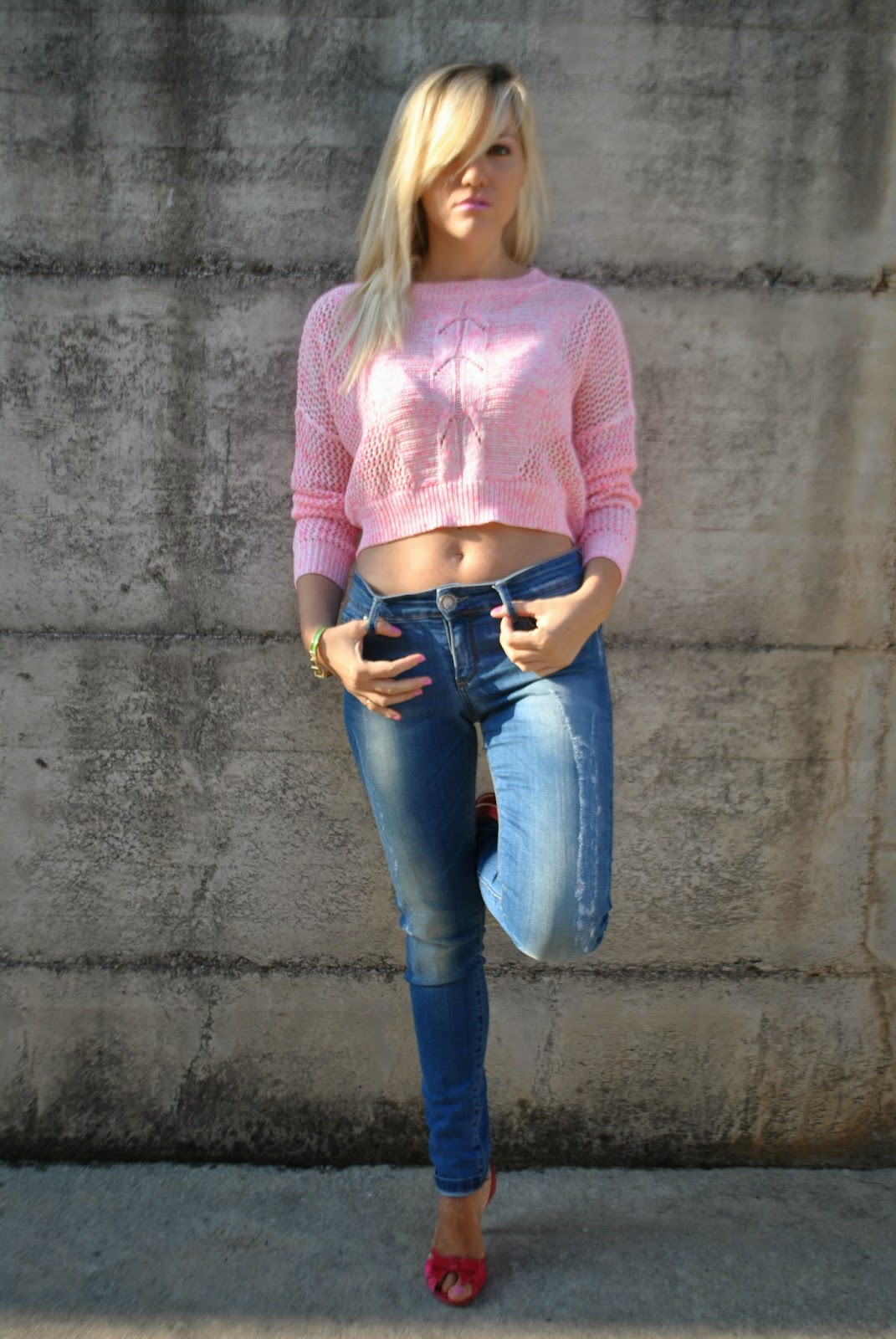 Vintage Clothing Do You Think Its Coming Back: Color-Block By FelyM.: OUTFIT: SKINNY JEANS E CROP TOP
