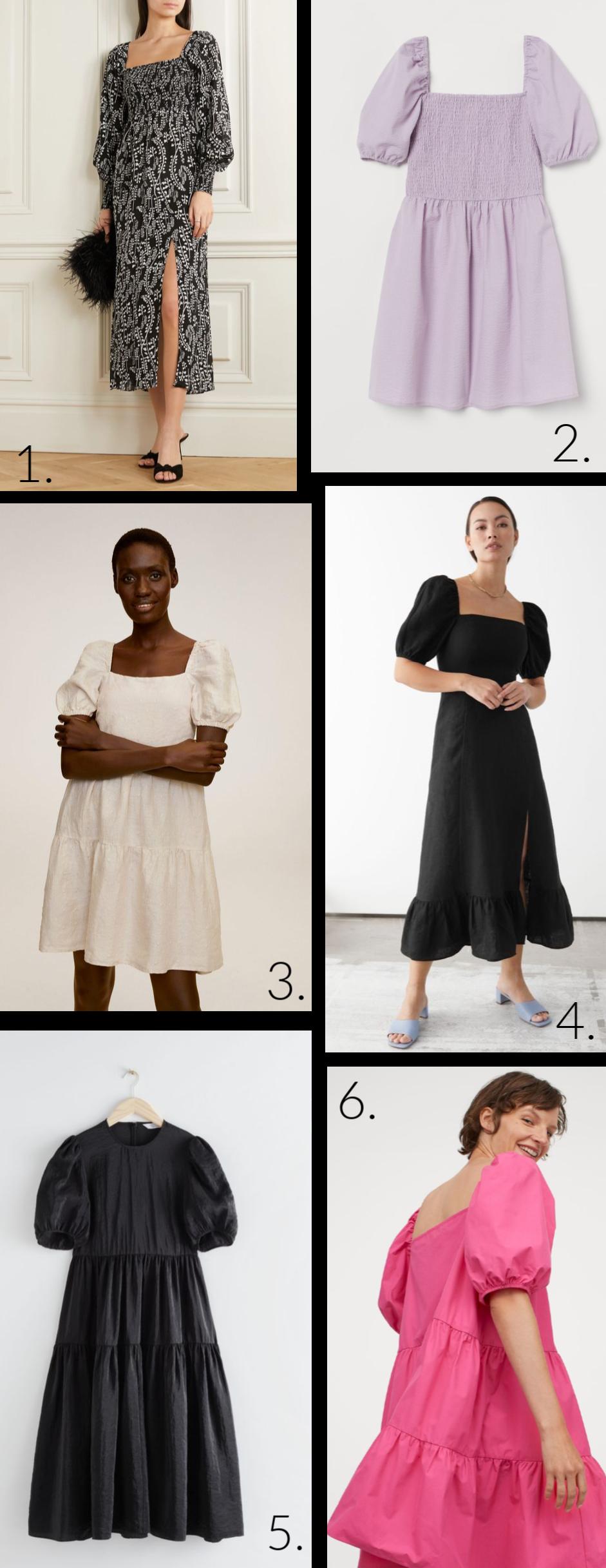 Wednesday Wishlist: Puff-Sleeved Dresses