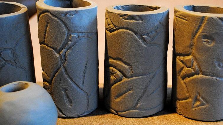 Töpfern mit Soft-Ton: Eine Stele für den Garten